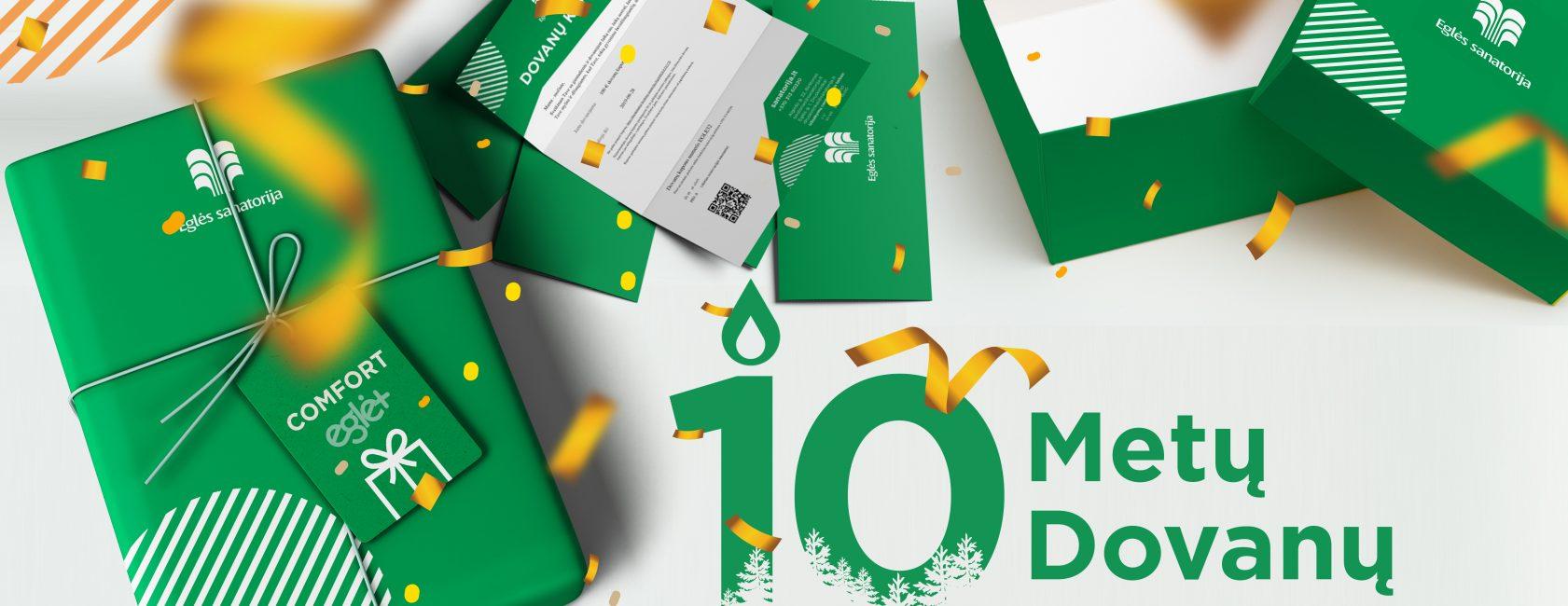 10 metų – 10 dovanų!