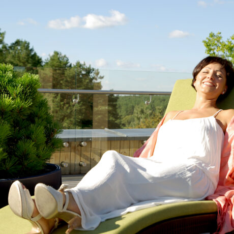 "We invite you to ""Sun Terrace"" in medical SPA ""Eglės sanatorija"""