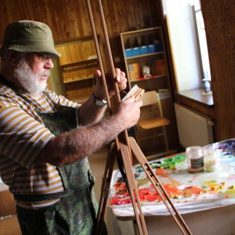 Stiklinę galeriją papuošė nauja paveikslų paroda!