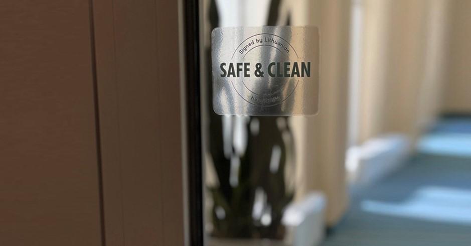 """Das Kurzentrum """"Eglės sanatorija"""" wurde mit dem Zeichen SAFE & CLEAN für sichere und saubere Gastfreundschaft ausgezeichnet"""
